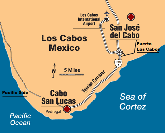 Los Cabos Map Zone